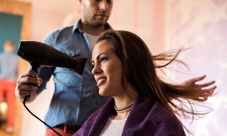 Léonce Coiffure Shampoing, coupe et brushing, option couleur/balayage, sur toutes longueurs de cheveux chez Léonce Coiffure