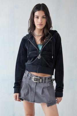 Juicy Couture - Sweat à capuche zippé\u00a0avec strass- taille: XS