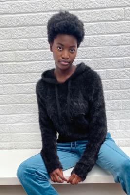 Juicy Couture - Sweat à capuche\u00a0Melissa\u00a0 en molleton tricoté- taille: L
