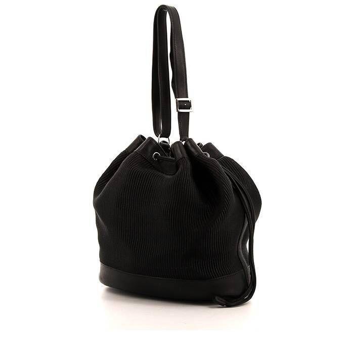 Hermès Sac bandoulière Hermès en cuir Barénia noir et crin de cheval