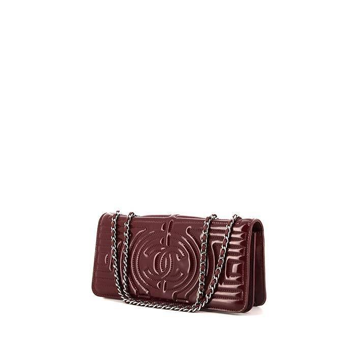 Chanel Sac bandoulière Chanel Editions Limitées en cuir vernis bordeaux