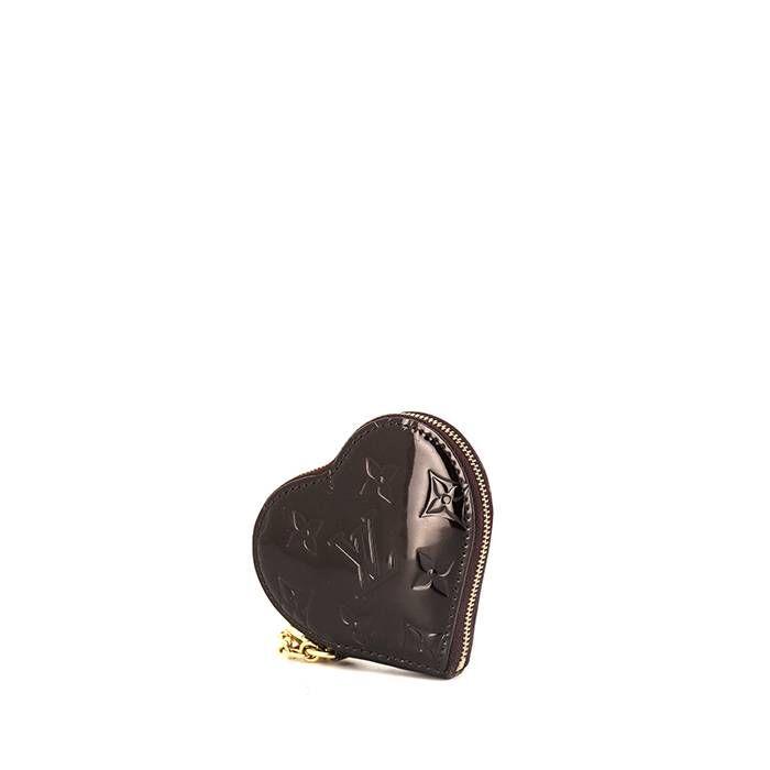 Louis Vuitton Porte-monnaie Louis Vuitton en cuir verni prune
