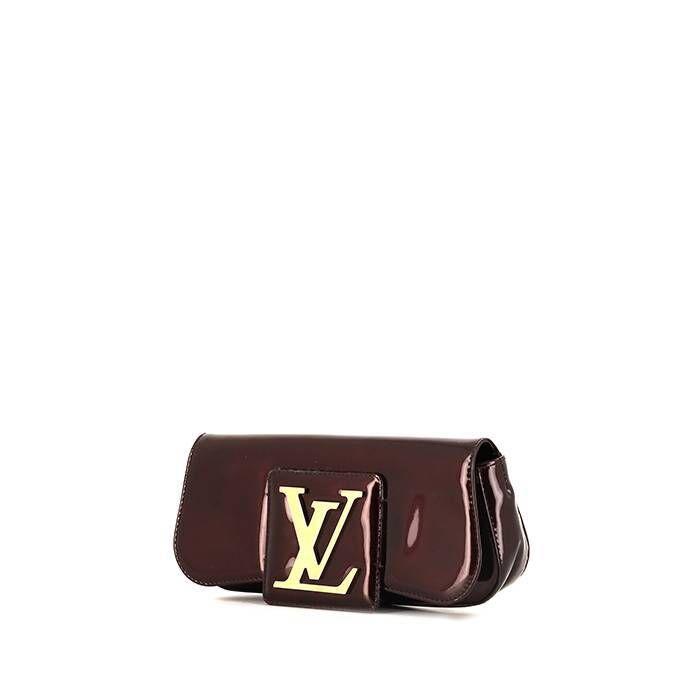 Louis Vuitton Pochette Louis Vuitton Sobe en cuir verni bordeaux