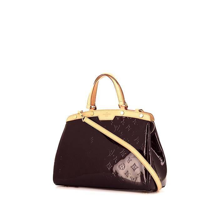 Louis Vuitton Sac à main Louis Vuitton Brea en cuir verni violet Amarante et cuir