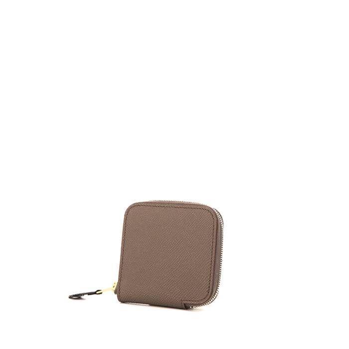 Hermès Porte-monnaie Hermès en cuir epsom étoupe