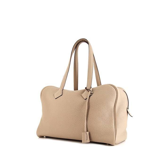 Hermès Sac à main Hermes Victoria en cuir togo beige argile