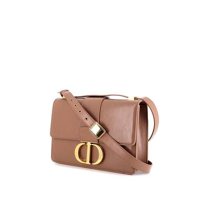 Christian Dior Sac bandoulière Dior 30 Montaigne en cuir verni beige