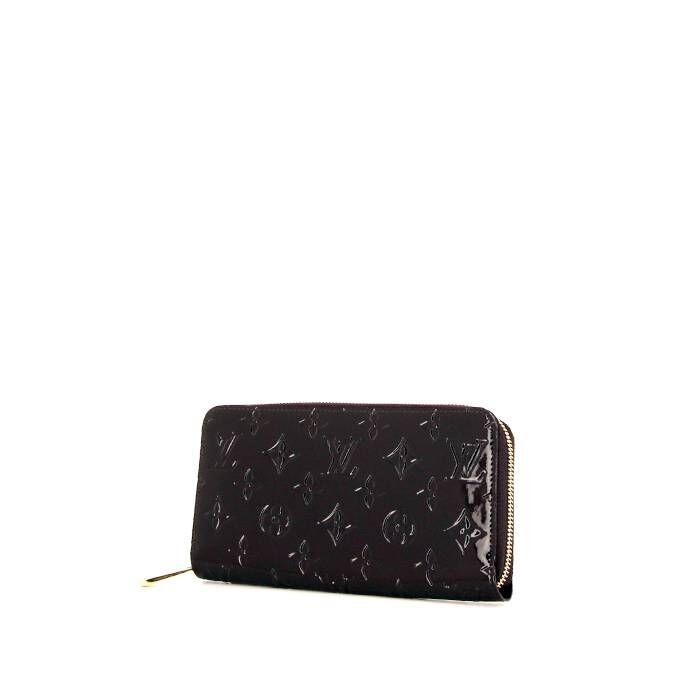 Louis Vuitton Portefeuille Louis Vuitton Zippy en cuir verni monogram bordeaux