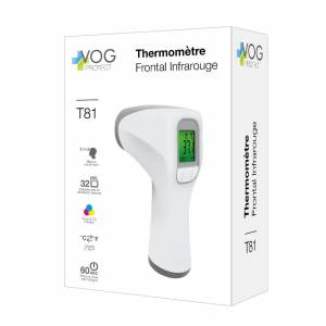 MASQUES DIRECT Thermomètre frontal infrarouge avec affichage à led - Publicité