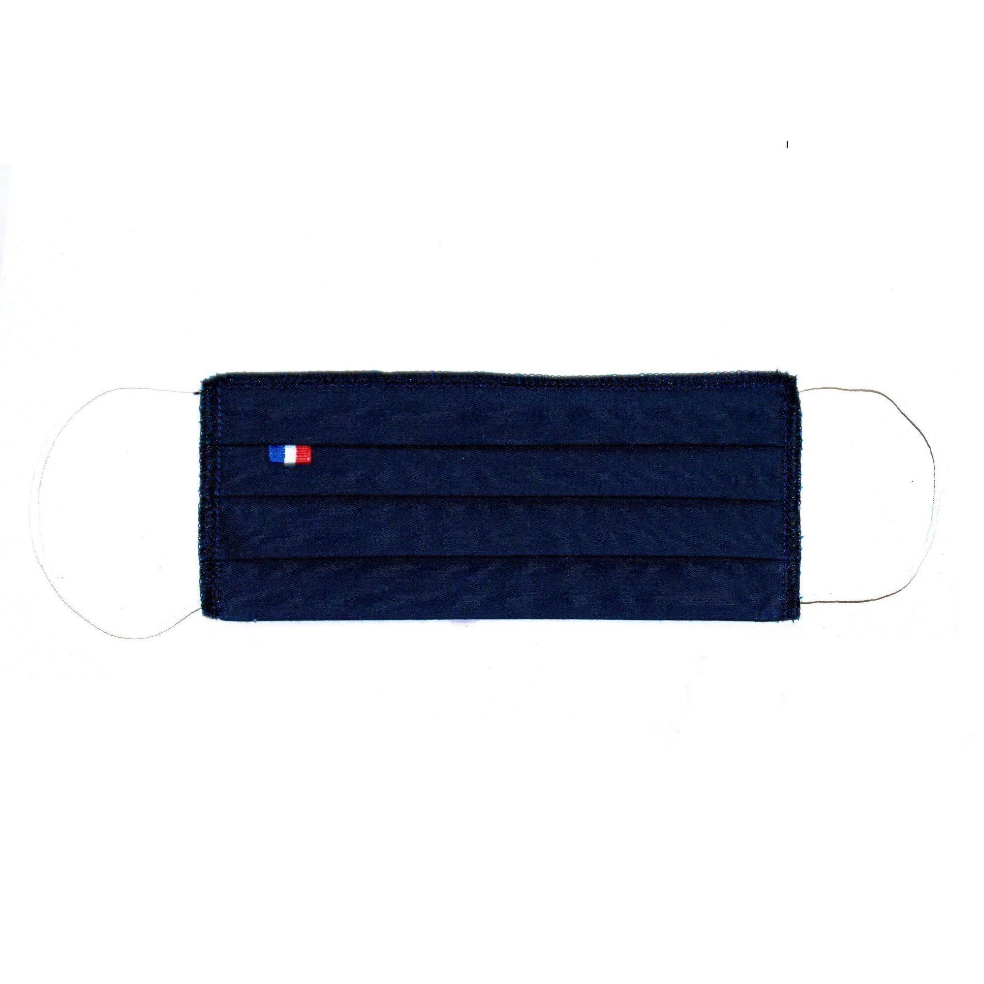 MASQUES DIRECT 5 Masques barrières 3 plis tissu lavable réutilisable bleu marine - testé 10 lavages