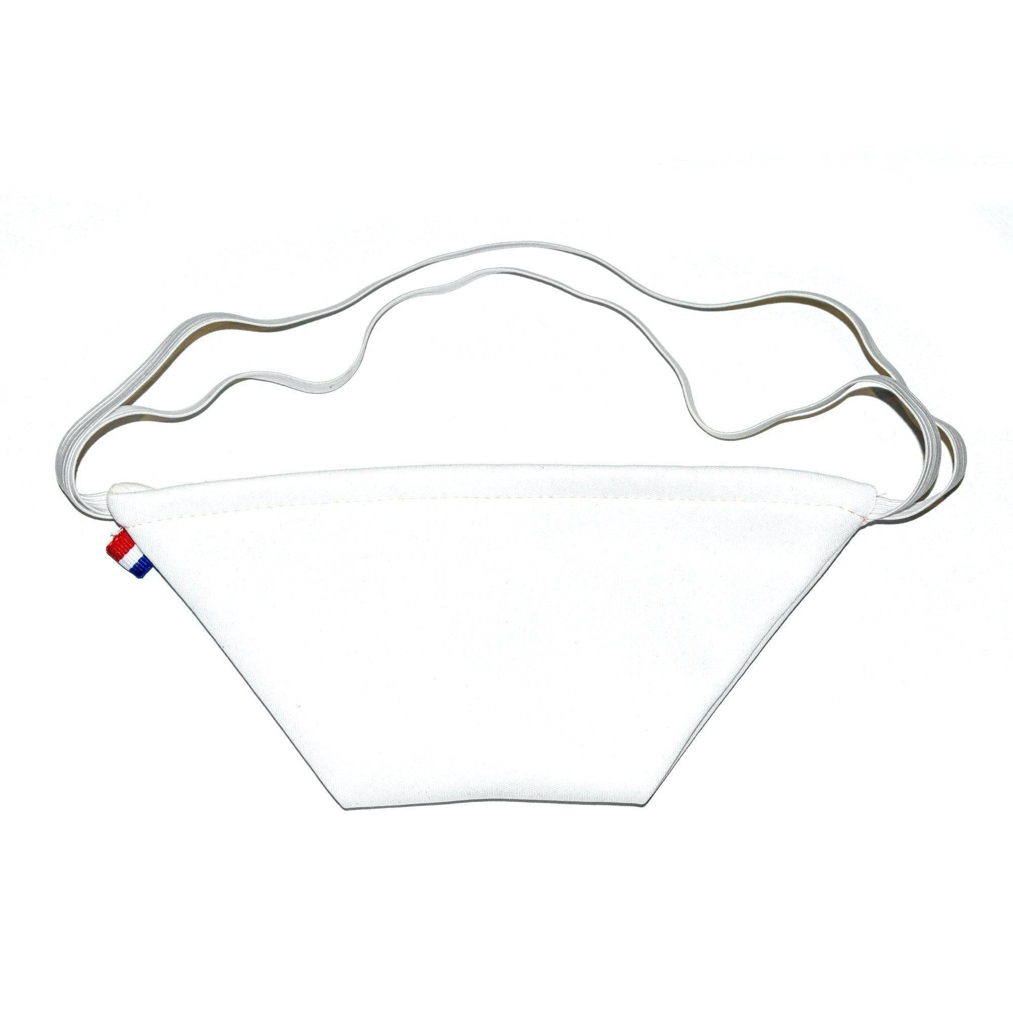 MASQUES DIRECT 10 Masques barrière bec de canard en tissu lavable réutilisable blanc - testé 40 lavages