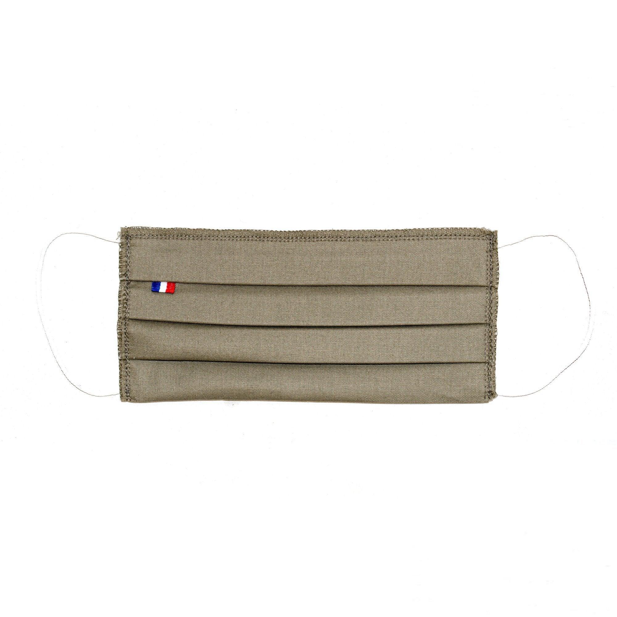 MASQUES DIRECT 5 Masques barrière 3 plis en tissu lavable réutilisable kaki - testé 10 lavages