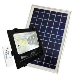 Silumen Projecteur Solaire LED 60W Dimmable avec Détecteur crépusculaire (Panneau Solaire + Télécommande Inclus) - Publicité