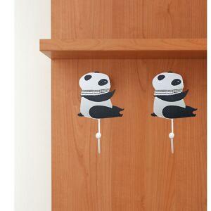 Silumen Porte-manteau Mural En Bois, Patère Panda, 9.5x4.5x15.5cm Motif 1 - Publicité