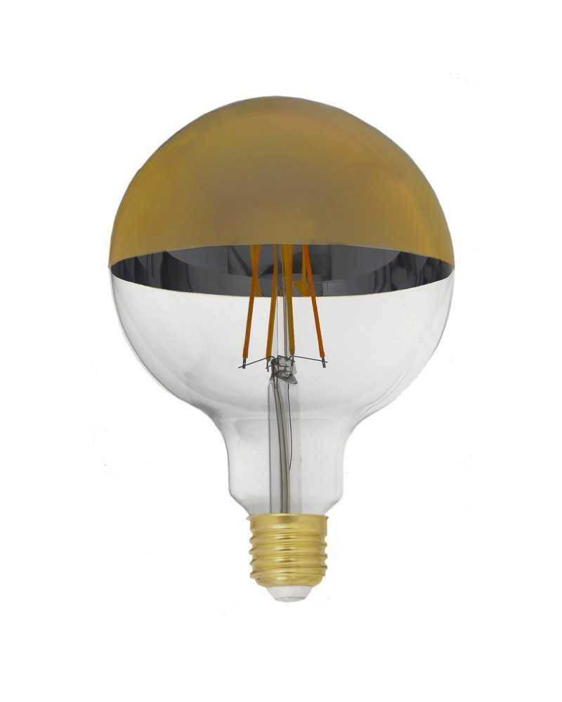 Silumen Ampoule E27 LED Filament Dimmable 8W G125 Globe Reflet Or