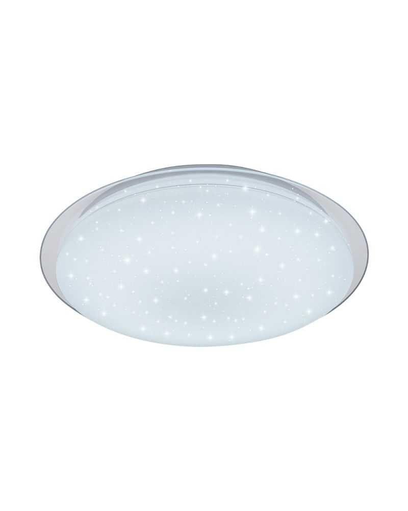 Silumen Plafonnier LED 40W Lumière Variable BLANC MAT avec ÉTINCELLES
