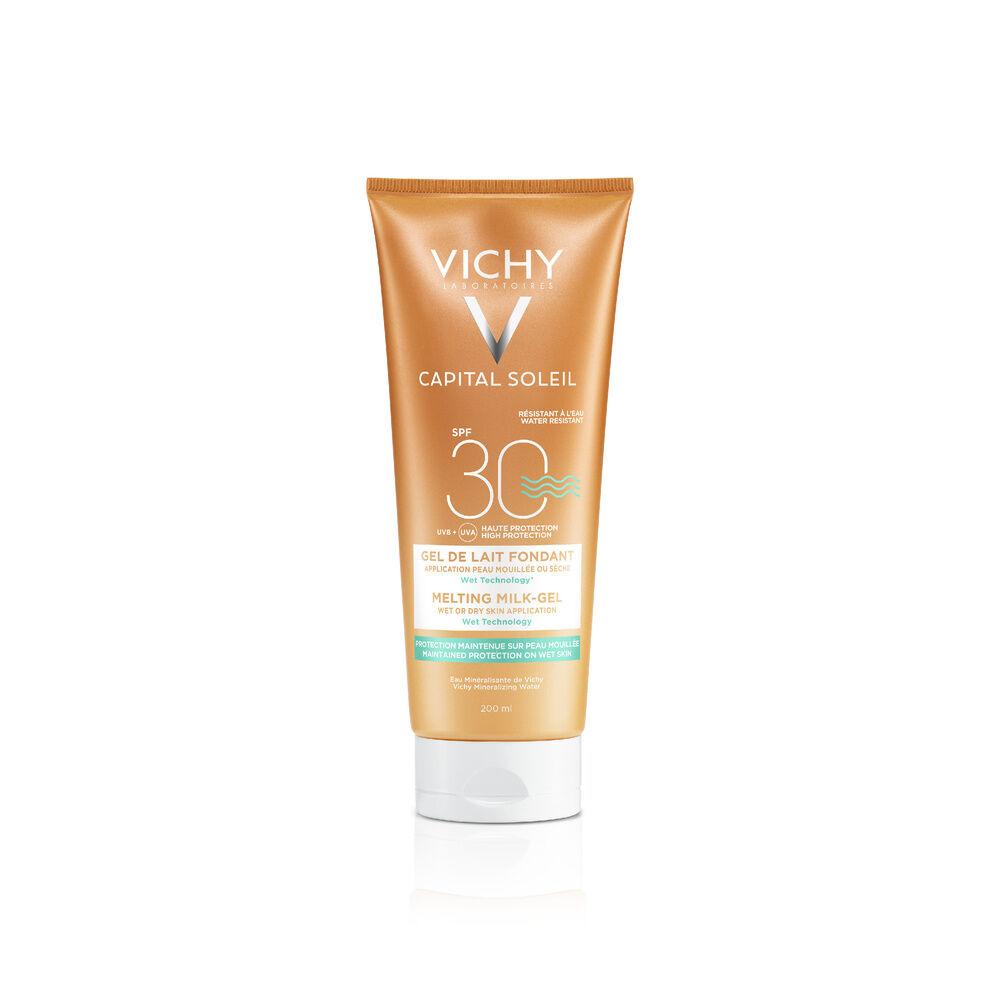 Vichy Ideal Soleil Gel de Lait Ultra Fondant IP30 Protection corps et visage