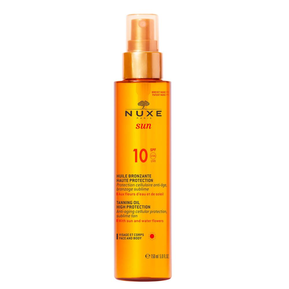 Nuxe Soins solaires SPF10 HUILE VISAGE ET CORPS 150ML