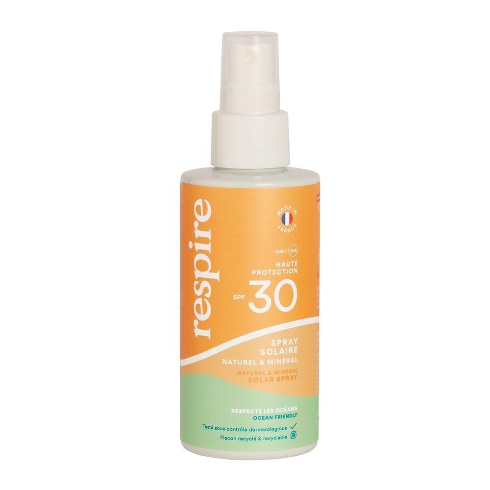 Respire Spray solaire naturel & minéral SPF 30 SPRAY SOLAIRE SPF 30