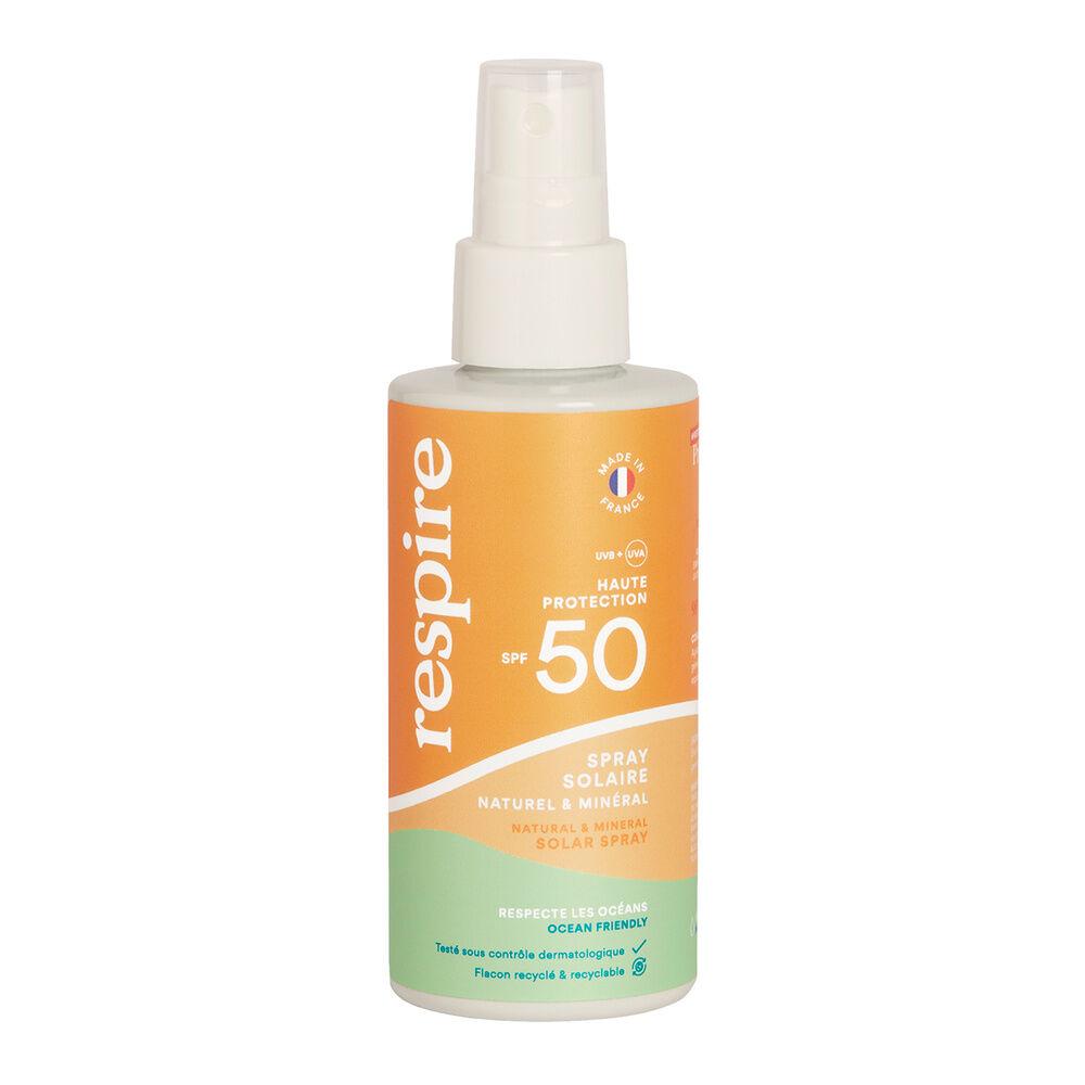 Respire Spray solaire naturel & minéral SPF 50 SPRAY SOLAIRE SPF 50