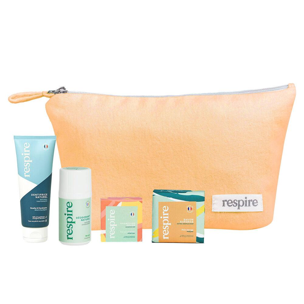 Respire RESPIRE SOLIDE Dentifrice 75ml, Savon Surgras 100g, Mini Shampoing Solide 20gr, Déodorant Naturel Thé Vert 15ml