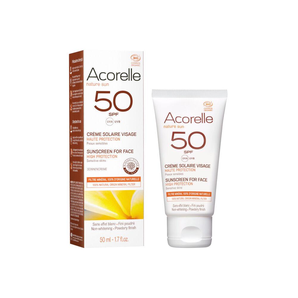 acorelle Produits Solaires Crème Solaire Visage SPF50 50ML