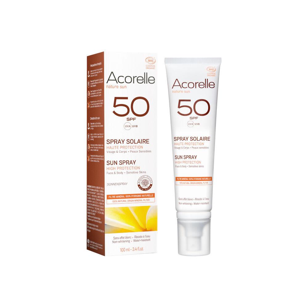 acorelle Produits Solaires Spray Solaire SPF50 100ML