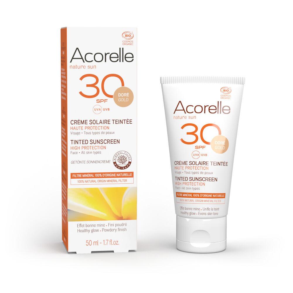 acorelle Produits Solaires Crème Solaire Visage Teintée Dorée SPF3050ML