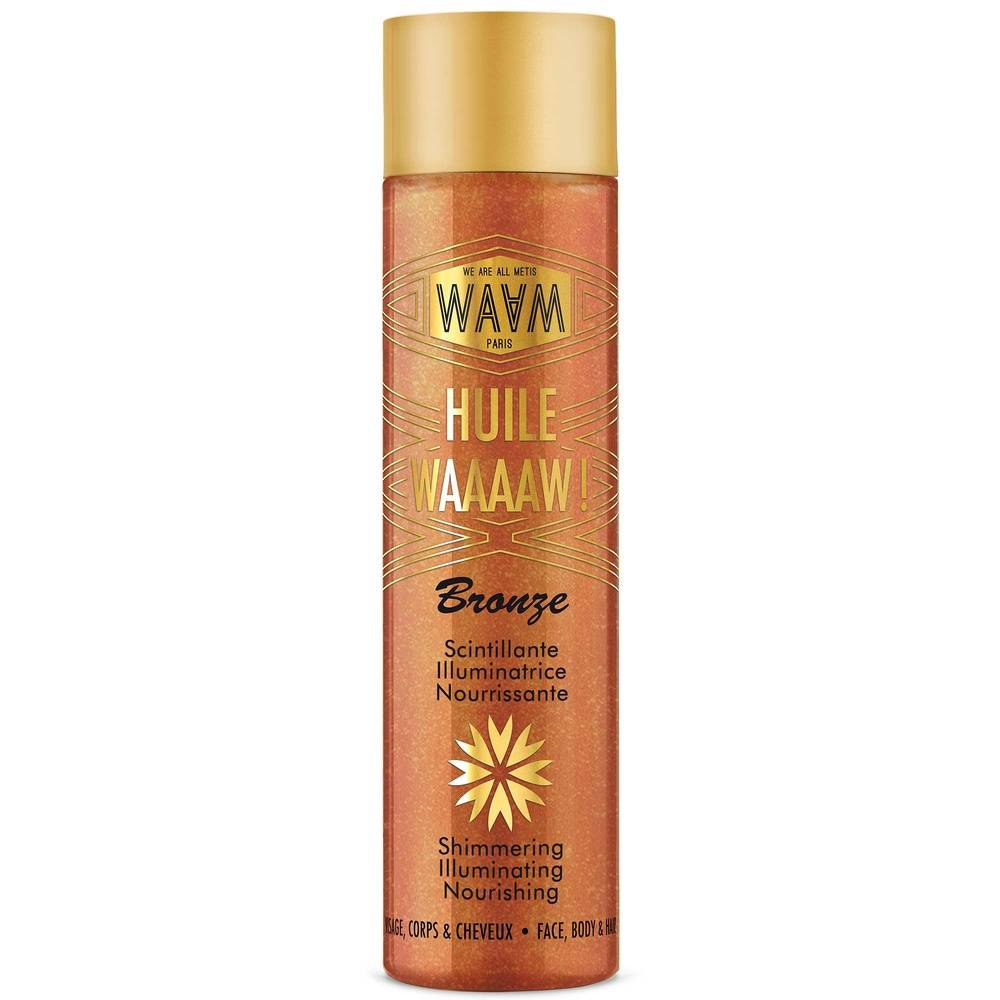 waam Les ingrédients cosmetiques Huile scintillante - WAAAAW!  100ml