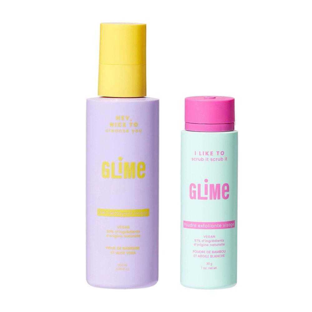 Glime Visage Soins visage, Gel nettoyant&Poudre exfoliante