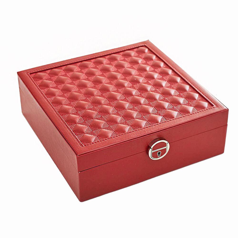 Stella Maris  Boîte de rangement rouge pour bijoux etcosmétiques
