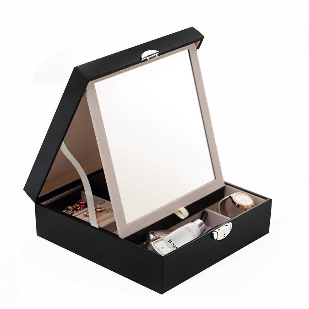 Stella Maris  Boîte noire de rangement pour les bijouxet les cosmétiques