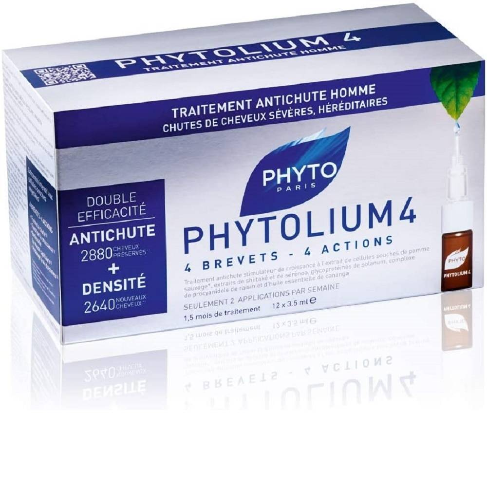 PHYTO PHYTOLIUM 4 TRAITEMENT ANTI CHUTEHOMME 12x3.5ML AMPOULES