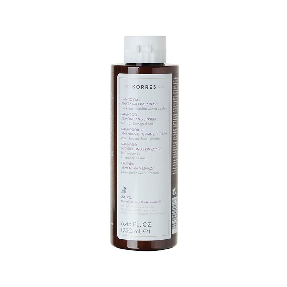 Korres Amandes et graines de Lin Shampooing (cheveux secs)