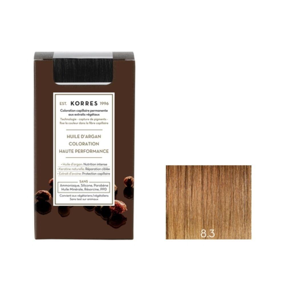 Korres Blond Clair Doré 8.3 Coloration capillaire permanante