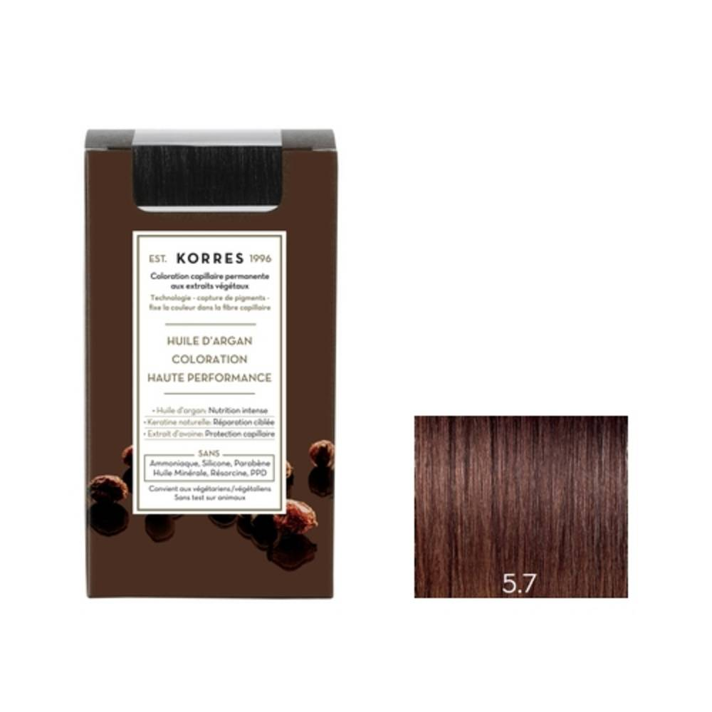 Korres Chatain Clair Marron 5.7 Coloration capillaire permanante