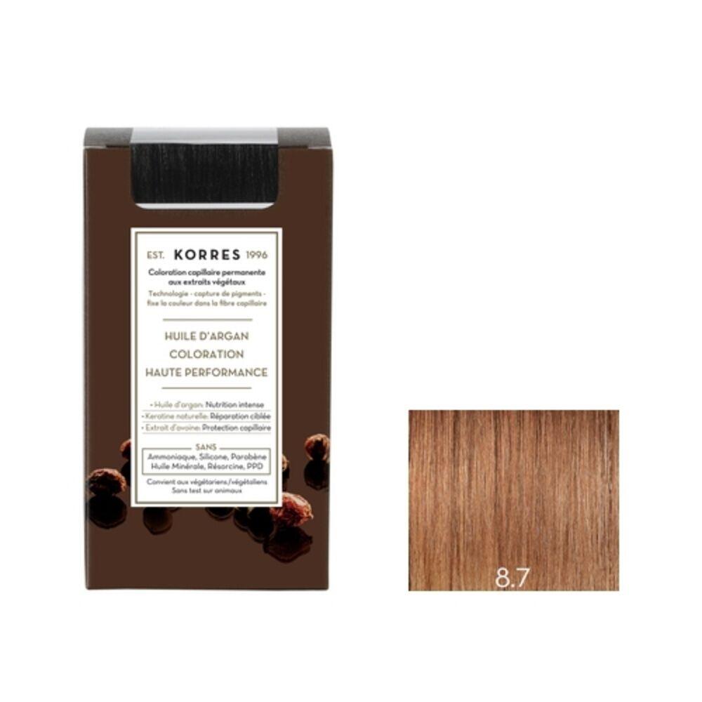 Korres Blond Clair Marron 8.7 Coloration capillaire permanante