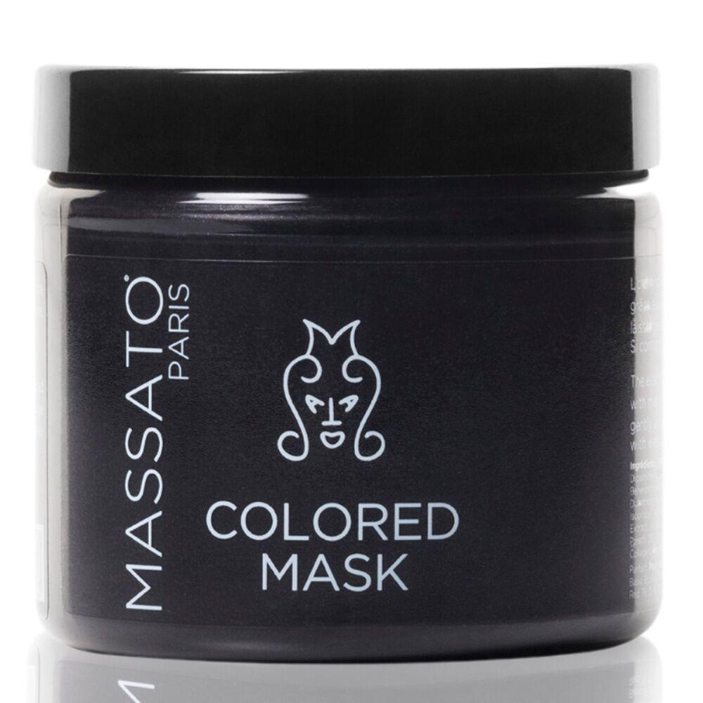 Massato Masque Coloré - Black Dahlia Masque Cheveux Naturels ou Colorés Noirs