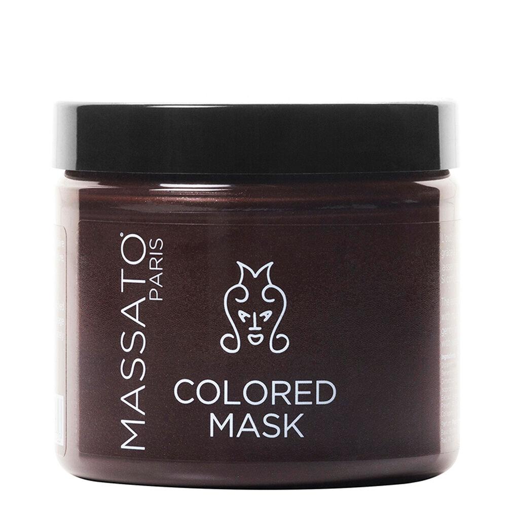 Massato Capillaires Masque Coloré - Cacao Brown Masque Cheveux Naturels ou Colorés Châtains