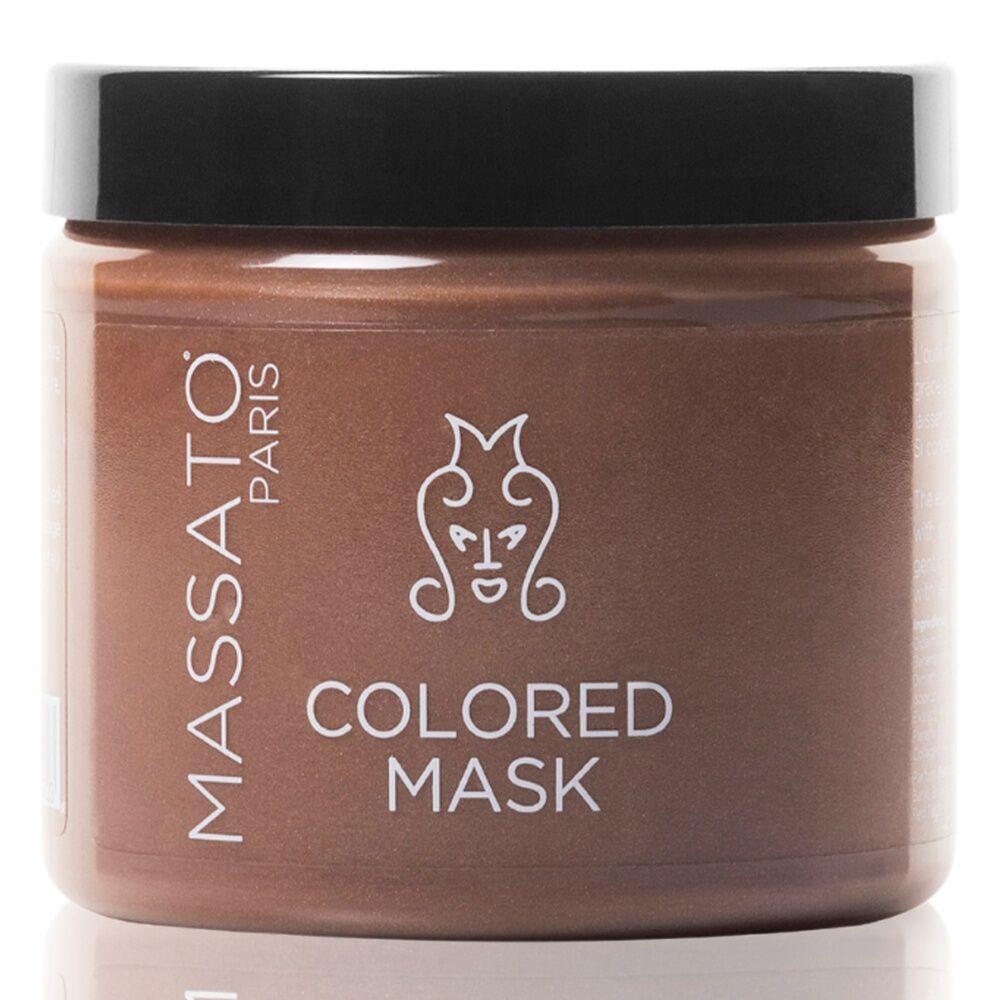 Massato Capillaires Masque Coloré - Dark Blond Masque Cheveux Naturels ou Colorés Blonds Foncés