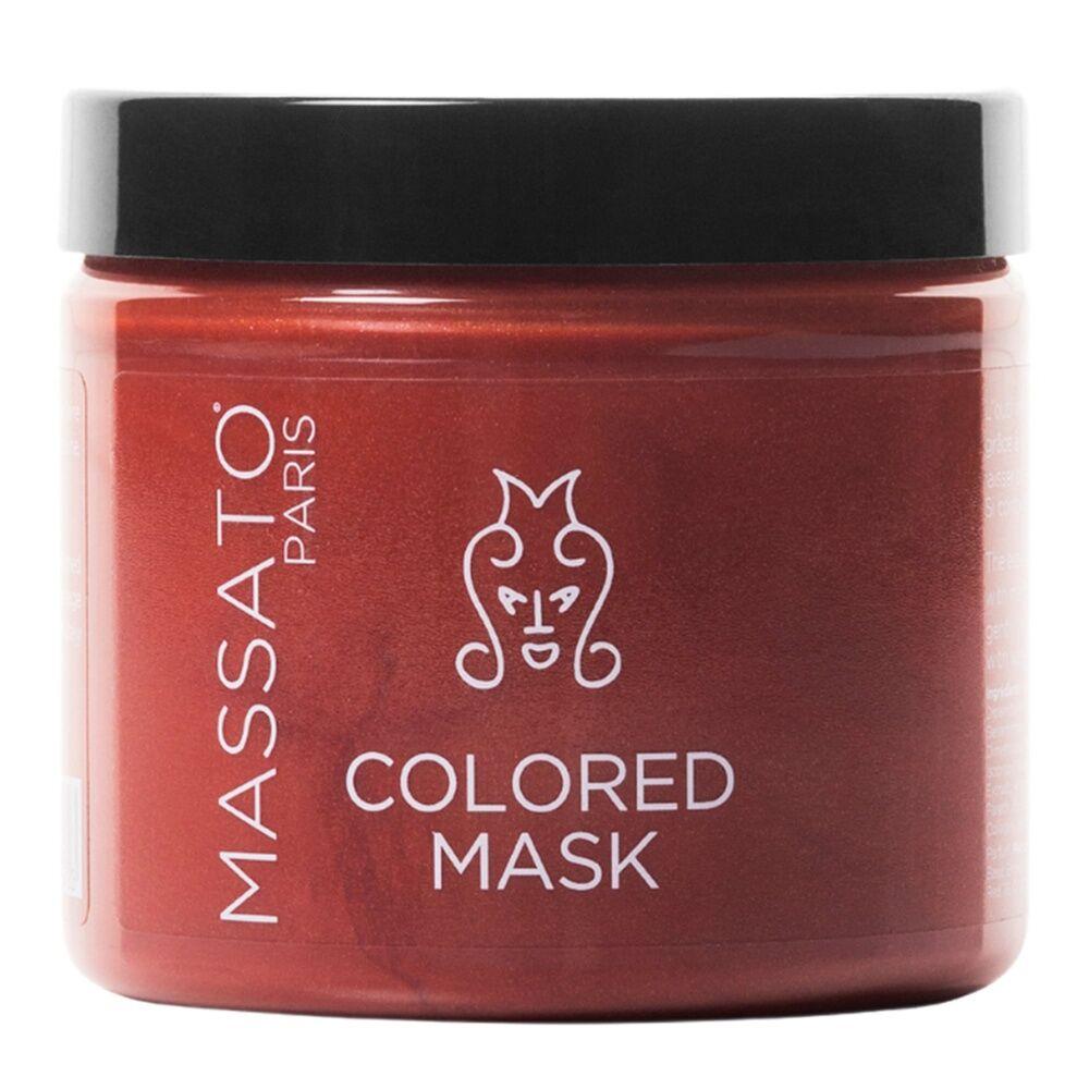 Massato Masque Coloré - Red Highlights Masque Cheveux Naturels ou Colorés Cuivrés à Roux