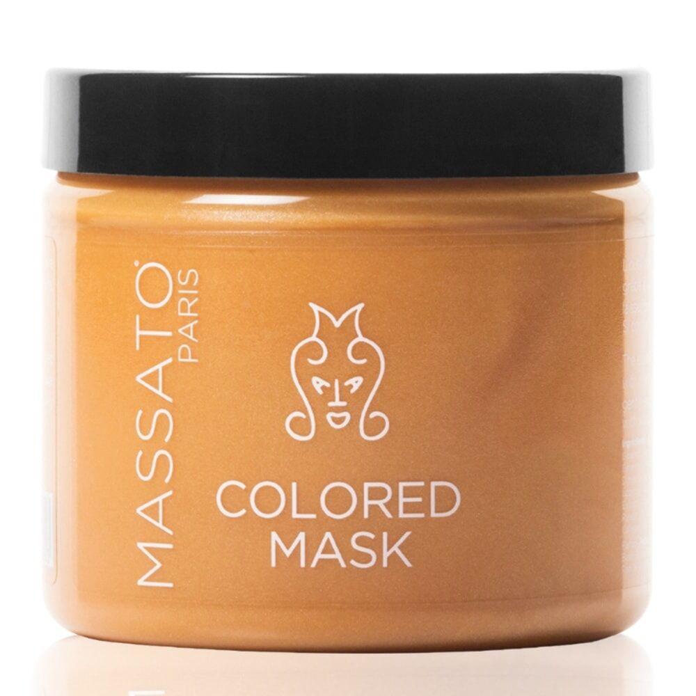 Massato Capillaires Masque Coloré - Golden Blond Masque Cheveux Naturels ou Colorés Blonds Dorés à Blonds Vénitiens