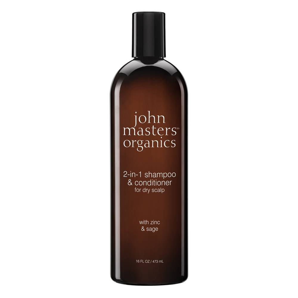 John Masters Organics Shampoing et après-shampoing 2 en 1 pour cuir chevelu sec 473 ml Shampoing