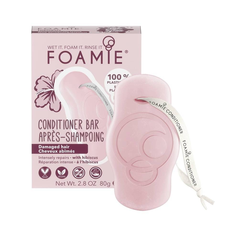 Foamie Après-Shampoing en Barre Hibiskiss (Cheveux Abîmés) Après Shampoing