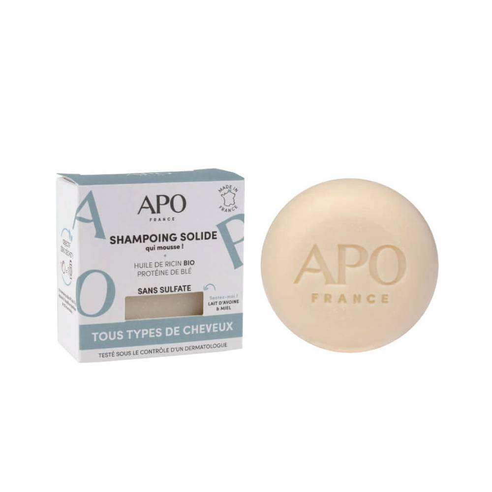 APO FRANCE Shampoing solide - Tous types de cheveux Shampoing solide