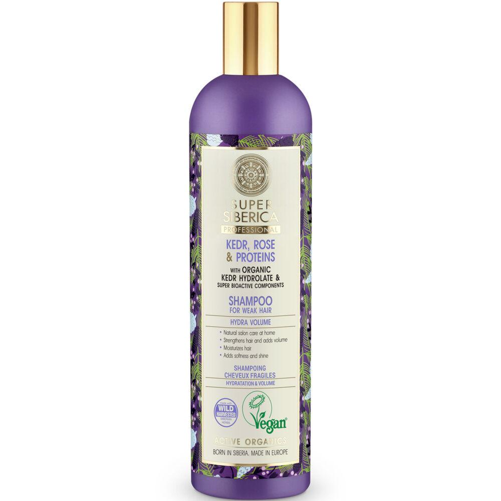 Natura Sibérica Shampoing Cedre et Rose cheveux fragiles 400ml Shampoing Cedre et Rose cheveux fragiles 400ml