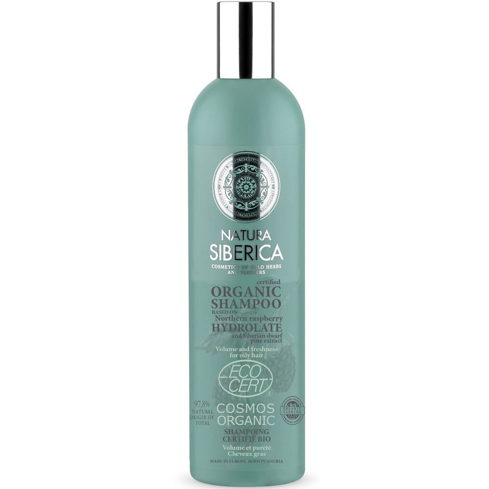 Natura Sibérica Shampoing certifié bio Volume et équilibre Cheveux gras 400ml Shampoing certifié bio Volume et équilibre Cheveux gras 400ml