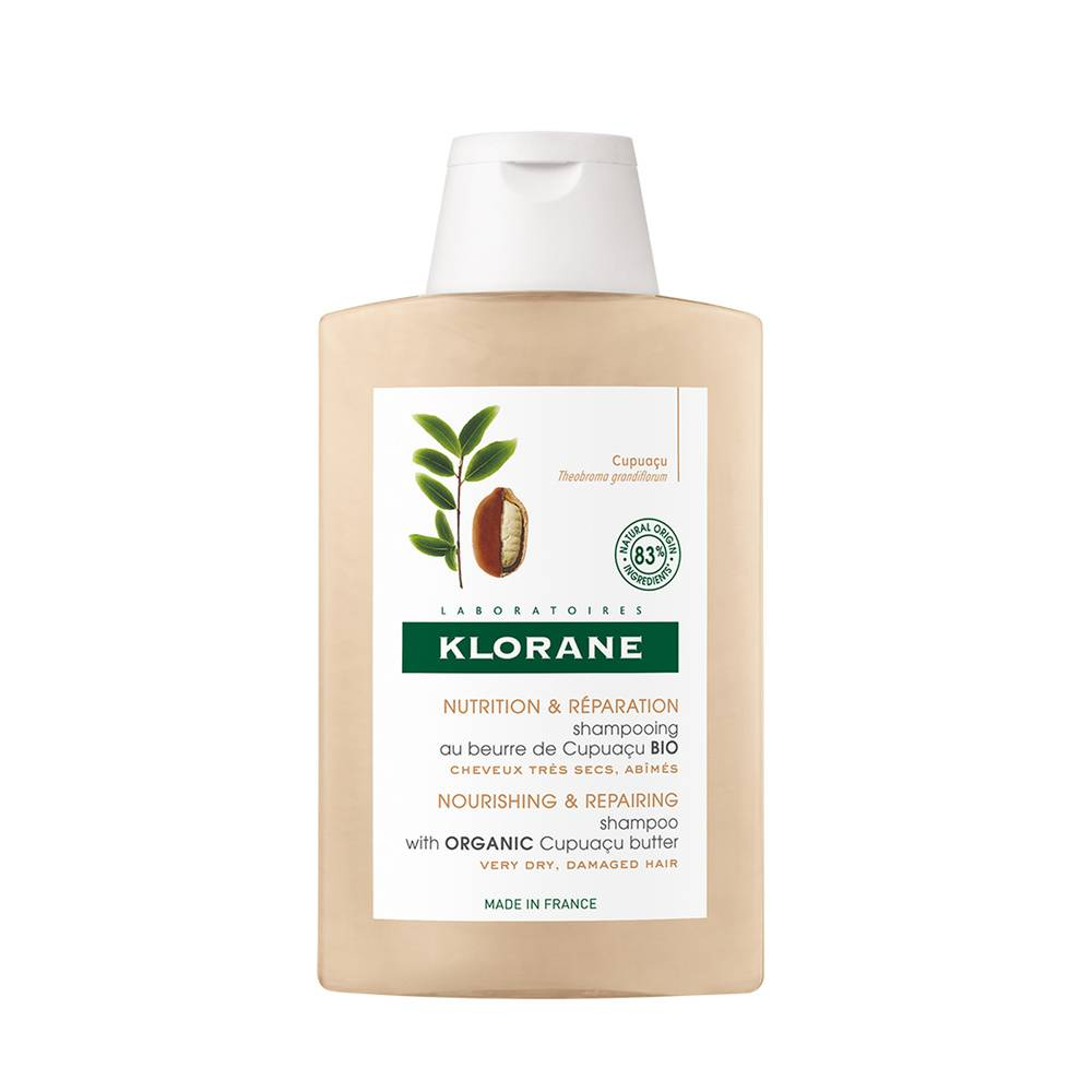 Klorane Shampooing riche au Beurre de Cupuaçu Bio  200 ml Shampooing