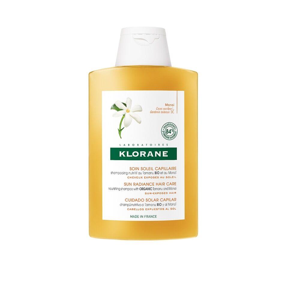 Klorane SOLAIRE Shampooing nutritif au Tamanu Bio et au monoï- 200ml Baume Solaire