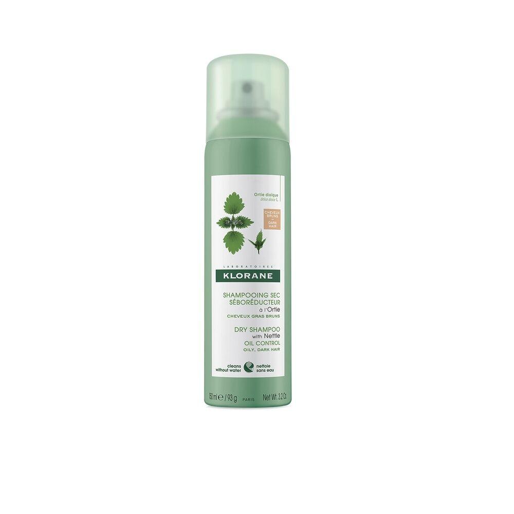 Klorane Ortie Shampooing  Sec cheveux chatains à bruns spray 150 ml Shampooing sec